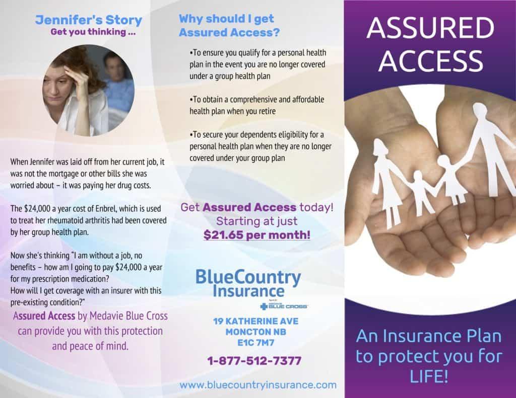 Medavie Blue Cross Assured access insurance